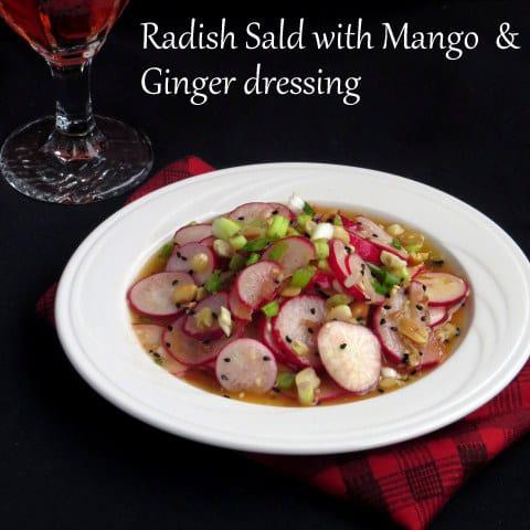 mango, Salad, Ginger, radish