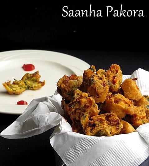 Pakoda, Snacks, deep fried