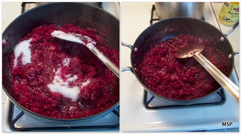 Pictorial representaion of beetroot halwa