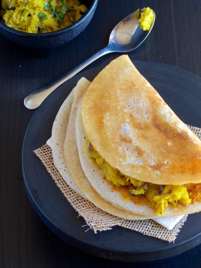 Mysore Masala Dosa - Karanataka Breakfast Special