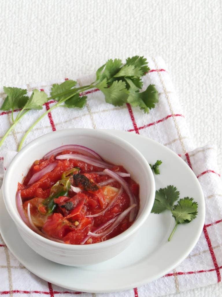 Khasi Roasted (smoked) Tomato Chutney - Meghalaya