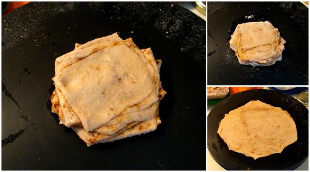 Stepwise Pictorial for making the layered Parathas