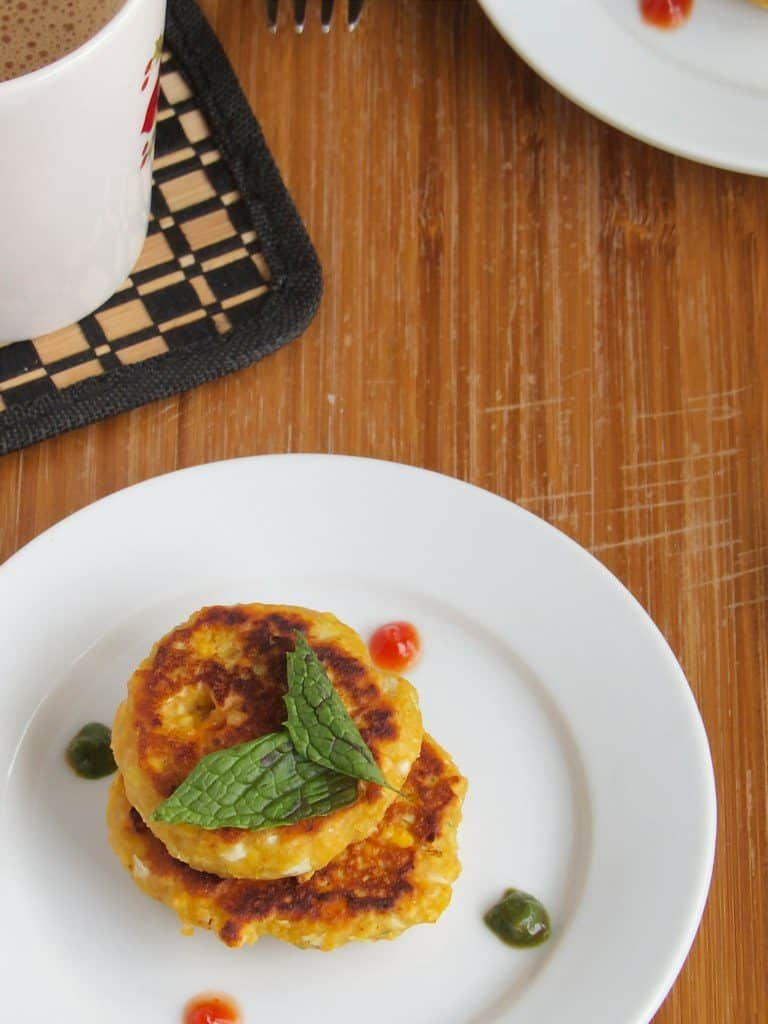 Cabbage Channa Dal Tikki - Light Snacks