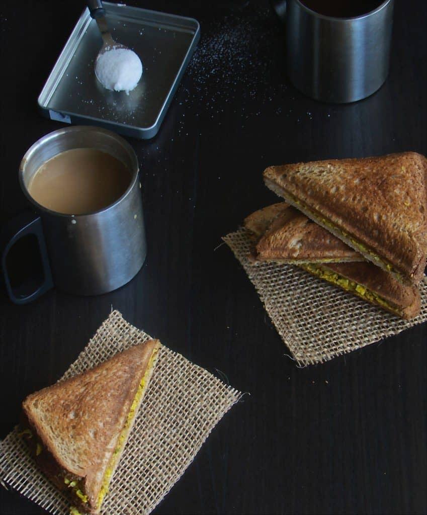 Grilled Paneer Sandwich