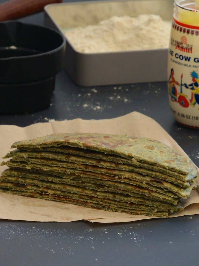Methi Paratha | Fenugreek Leaves Flatbread