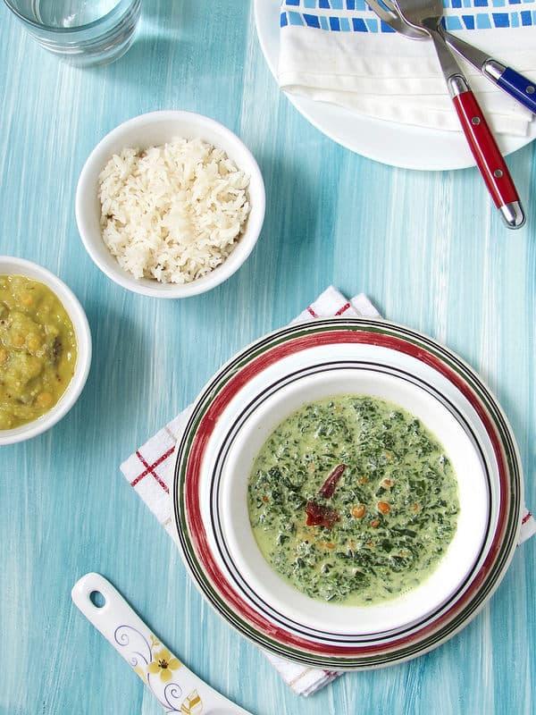 Morkeerai – Spinach in Yogurt sauce