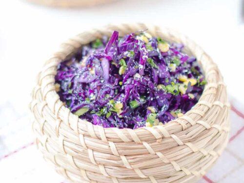 Cabbage Poriyal Purple