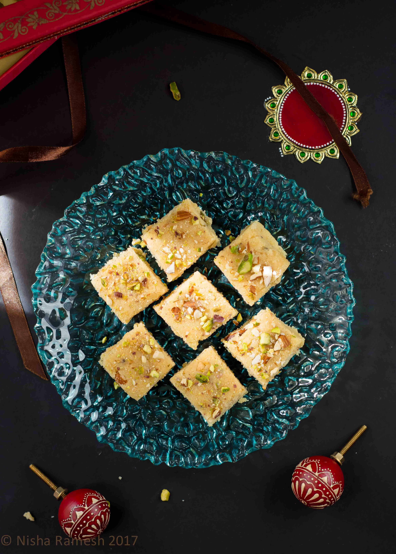 Instant Mawa Burfi – Two Ingredients Dessert