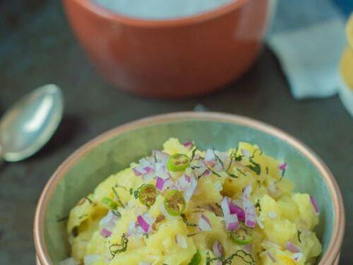 Aloo Bharta - Indian style mashed potatoes