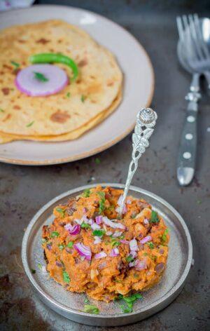 Shakarkand bharta- Indian style mashed sweet potatoes