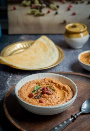 Peanut chutney dip - Kadalai chuteny for idli dosa